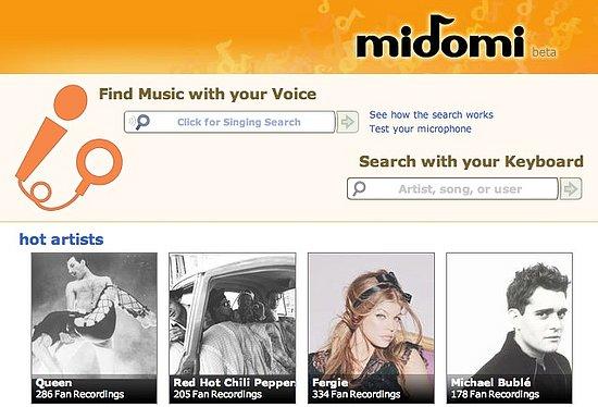 Midomi app